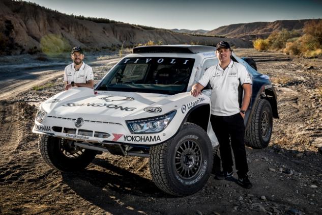 Der SsangYong TIVOLI bei der Rallye Dakar